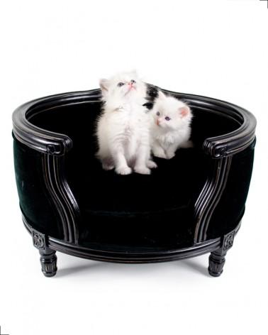Canapé haut de gamme pour chat, tissu en velours, modèle George de chez Lord Lou
