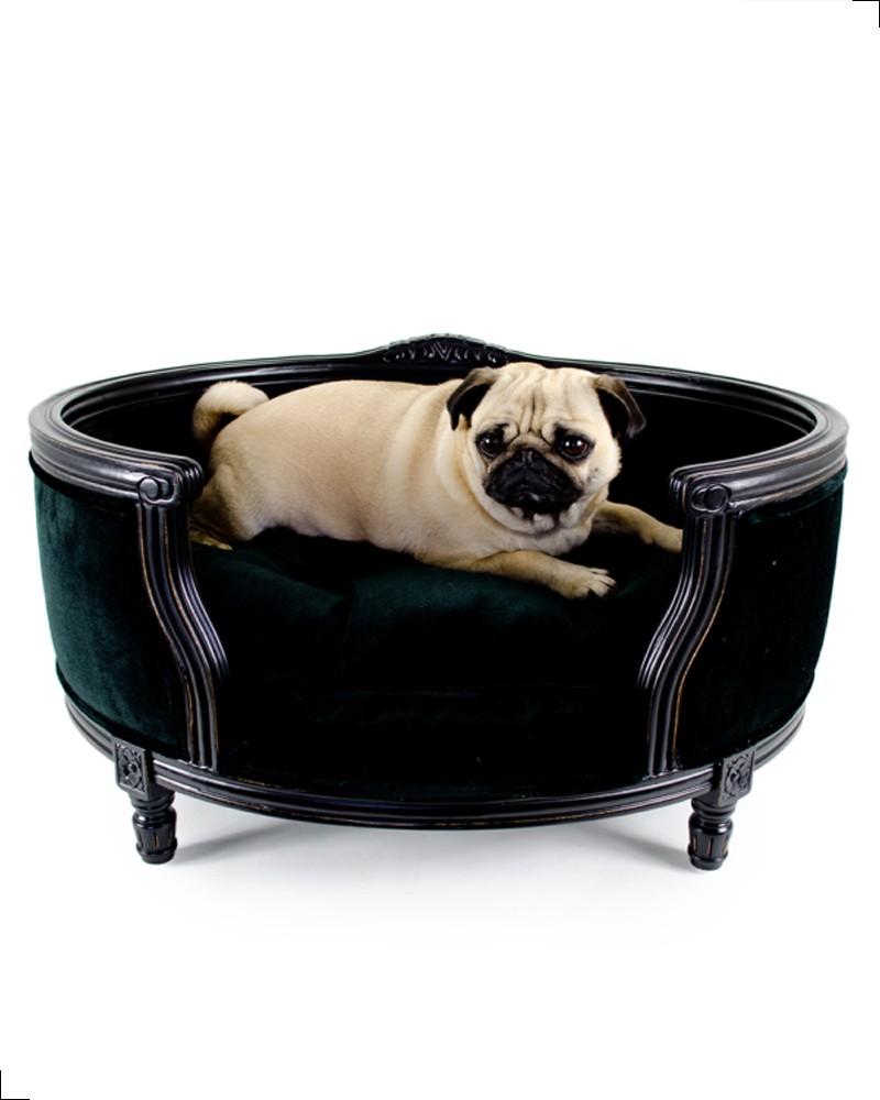 Canapé haut de gamme pour chiens, tissu en velours, modèle George de chez Lord Lou