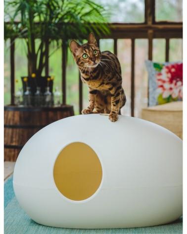 Une maison de toilette design pour chat